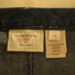 A Susan Bristol long denim skirt Size 16